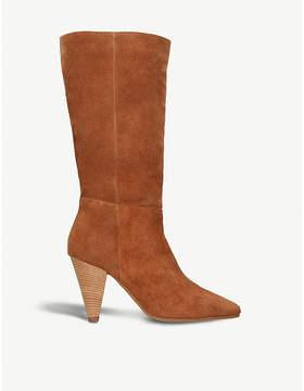Carvela Shimmy cone-heel suede boots