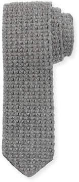 Ermenegildo Zegna Reversible Cashmere Knit Scarf, Charcoal/Gray