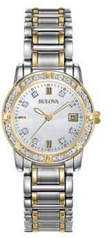 Bulova Ladies' Diamond Two Tone Gold Watch, TCW 98R107