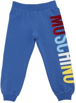 Moschino Logo Printed Cotton Sweatpants