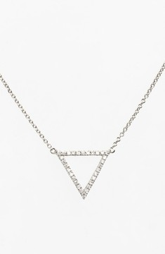 Bony Levy Women's 'Prism' Diamond Small Triangle Pendant Necklace (Nordstrom Exclusive)