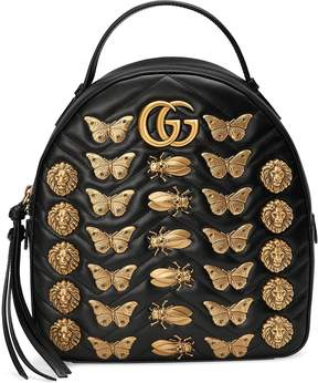 Gucci GG Marmont Animal Studs Leather Backpack - ONE COLOR - STYLE