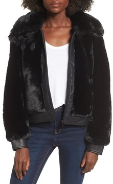 Blank NYC Women's Blanknyc Faux Fur Jacket