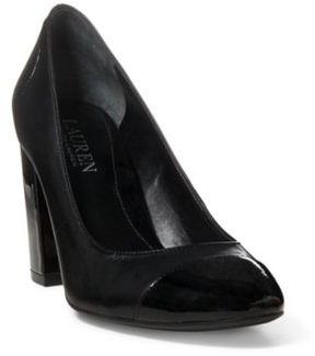 Ralph Lauren Fallon Patent Leather Pump Black/Black 10