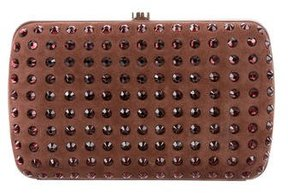 Gucci Embellished Broadway Clutch - BROWN - STYLE