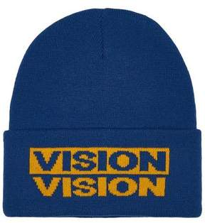 Topman Mens Multi VISION STREET WEAR Blue And Yellow Beanie
