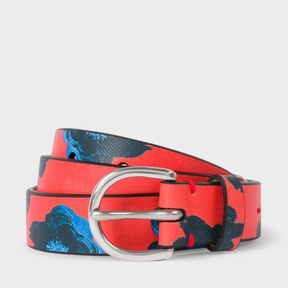 Paul Smith Women's 'Sea Aster' Print Leather Belt