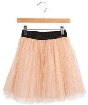 Junior Gaultier Girls' Metallic Tulle Skirt w/ Tags