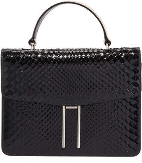 Hayward Top-Handle Shiny Python Bag