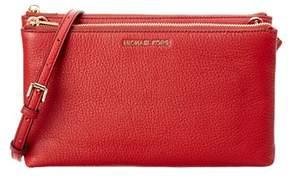 MICHAEL Michael Kors Adele Leather Crossbody. - RED - STYLE