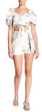 WAYF Matera High Waist Print Shorts