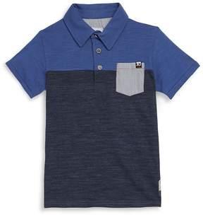Joe's Jeans Boy's Colorblocked Cotton Polo - Navy, Size l (14-16)