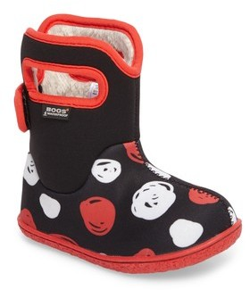 Bogs Infant Girl's Baby Classic Sketched Dots Washable Insulated Waterproof Boot