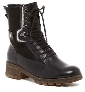 Tamaris Talues Faux Shearling Lined Combat Boot
