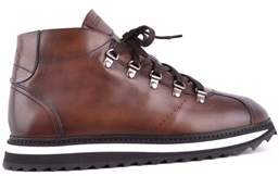 Doucal's Men's Brown Leather Ankle Boots.
