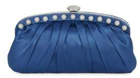 Nina Embellished Satin Clutch