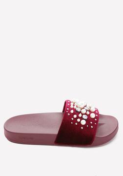 Bebe Fenix Velvet Slides