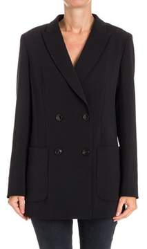 Seventy Women's Black Polyester Blazer.