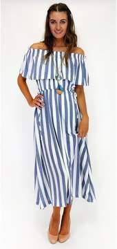Ark & Co Sail Away On Stripes Maxi Dress