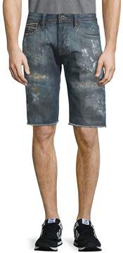 Cult of Individuality Men's Rebel Distressed Denim Shorts