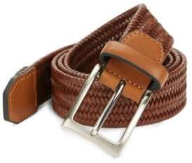 Black & Brown Black Brown Basket Weave Reversible Belt
