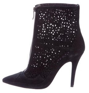 Barbara Bui Laser Cut Suede Ankle Boots