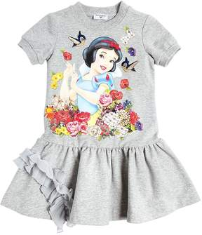MonnaLisa Snow White Print Cotton Sweatshirt Dress