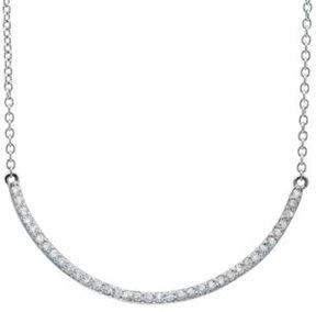 Crislu Cubic Zirconia Bar Necklace