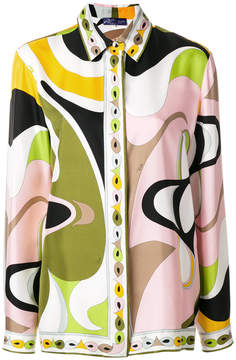 Emilio Pucci psychedelic print blouse