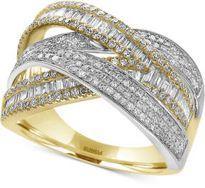 Effy Duo by Diamond Wrap Ring (1-1/4 ct. t.w.) in 14k Yellow and White Gold