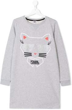 Karl Lagerfeld TEEN cat print sweatshirt