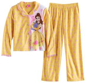 Disney Disney's Belle Girls 4-10 Rose Bud Top & Bottoms Pajama Set