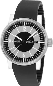 Fortis Men's Spacematic Classic,steel,black,day/date Watch.