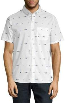 Michael Bastian Graphic Cotton Button-Down Shirt
