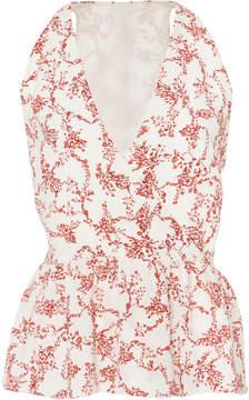 Emilia Wickstead Wrap-Effect Floral-Print Top