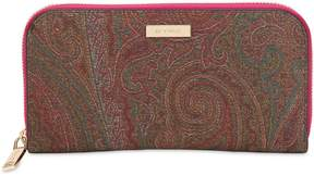 Etro Paisley Faux Leather Zip Around Wallet
