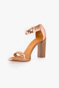 Veronique Branquinho Rose Gold Leather Heel
