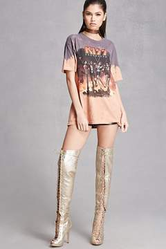 Forever 21 Thigh-High Metallic Boots
