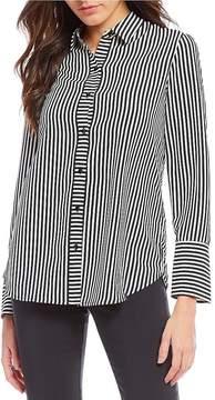 Isaac Mizrahi Imnyc IMNYC Collared Easy Button Up Shirt