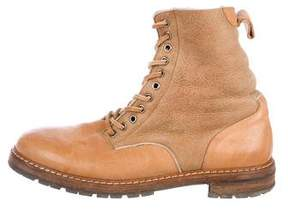 Maison Margiela Leather Shearling-Lined Boots