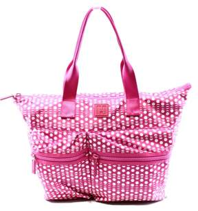 Tommy Hilfiger Active Nylon Extra Large Tote, Pink/White Dots
