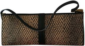 Lancel Beige Cloth Clutch Bag