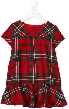 Oscar de la Renta Kids Holiday plaid layered dress