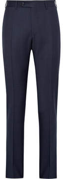 Canali Blue Venezia Slim-Fit Puppytooth Wool Suit Trousers