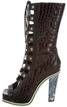 Rodarte 2015 Embossed Boots w/ Tags