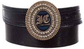 Just Cavalli Patent Leather Logo Belt