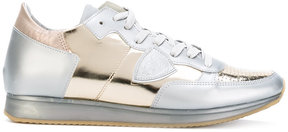 Philippe Model metallic lace-up sneakers
