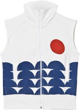 Bobo Choses Off-White Rowing Sleeveless Zip Sweatshirt