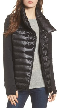 Andrew Marc Women's Knit Sleeve Packable Puffer Jacket