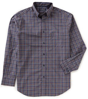 Roundtree & Yorke Superior Touch Big & Tall Long-Sleeve Checked Sportshirt